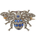 Estate Jewelry:Brooches - Pins, Diamond, Sapphire, Ruby, White Gold Brooch. ...