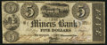 Obsoletes By State:Iowa, Dubuque, Wisconsin Terr.- Miners Bank $5 Oct. 1, 1840 G2. ...