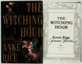 Books:Horror & Supernatural, Anne Rice. SIGNED. The Witching Hour. New York: Alfred A. Knopf, 1990....