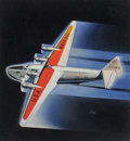 Pulp, Pulp-like, Digests, and Paperback Art, Frank Xavier Theban Tinsley (American, 1899-1965). Drawing Boardto Runway, Air Trails magazine cover, January 1938. Gou...(Total: 2 Items)