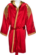 Movie/TV Memorabilia:Costumes, A Wladimir Klitschko Fight Worn Robe from Ibragimov Bout Gifted toStallone, 2008....