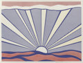 Post-War & Contemporary:Pop, Roy Lichtenstein (American, 1923-1997). Sunrise, 1965.Offset lithograph in colors. 17-1/8 x 23 inches (43.5 x 58.4 cm)...