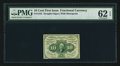 Fractional Currency:First Issue, Fr. 1242 10¢ First Issue PMG Uncirculated 62 EPQ.. ...