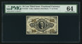 Fractional Currency:Third Issue, Fr. 1252 10¢ Third Issue PMG Choice Uncirculated 64.. ...