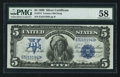 Large Size:Silver Certificates, Fr. 274 $5 1899 Silver Certificate PMG Choice About Unc 58.. ...