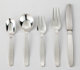 Allan Adler (American, 1916-2002) Swedish Modern (flatware service for six), circa 1969 Silver and stainless steel 8-