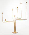 Decorative Arts, Continental:Lamps & Lighting, Piet Hein (Danish, 1905-1996). Ursa Major Candelabra,designed 1938. Brass. 26-1/2 x 22-1/2 x 4-3/4 inches (67.3 x 57.2...