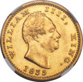 India:British India, India: British India. William IV - East India Company gold Proof Restrike Mohur 1835-(B) PR55 NGC,...