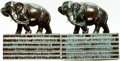 """Books:Furniture & Accessories, [Bookends]. Pair of Matching """"Elephant on Library"""" Bookends.Ronson, circa 1918. ... (Total: 2 Items)"""
