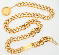 """Luxury Accessories:Accessories, Chanel Gold CC Medallion Belt. Very Good to Excellent Condition..5"""" Width x 34"""" Length. ..."""
