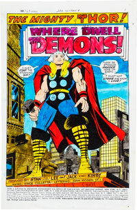 Thor #163 Splash Page 1 Hand-Painted Color Guide (Marvel, 1969)