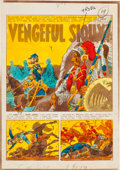 "Memorabilia:Comic-Related, EC Frontline Combat #15 ""Vengeful Sioux!"" Complete Story Silverprint Proof Group (EC, 1954).... (Total: 6 Items)"