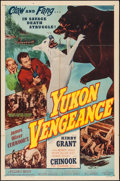 "Movie Posters:Adventure, Yukon Vengeance (Allied Artists, 1954). One Sheet (27"" X 41"").Adventure.. ..."