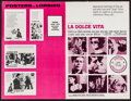 "Movie Posters:Foreign, La Dolce Vita & Others Lot (American International, R-1966). Uncut Pressbooks (12) (Multiple Pages, 11"" X 14"", 11"" X 17"", 12... (Total: 12 Items)"