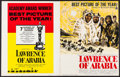 "Movie Posters:Academy Award Winners, Lawrence of Arabia & Other Lot (Columbia, 1962). UncutPressbooks (2) (20 Pages, 14"" X 18"" & 14"" X 19"") Academy AwardStyle.... (Total: 2 Items)"