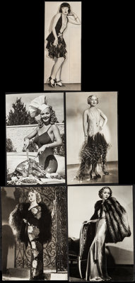 "Carole Landis & Others Lot (1941). Portrait Photos (11) (approx. 9.25"" X 11.75"", 10"" X 13"", &..."