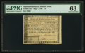 Colonial Notes:Massachusetts, Massachusetts May 5, 1780 $4 PMG Choice Uncirculated 63.. ...