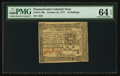 Colonial Notes:Pennsylvania, Pennsylvania October 25, 1775 10s PMG Choice Uncirculated 64 EPQ.....