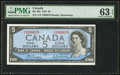 Canadian Currency: , BC-39b $5 1954. ...