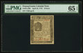 Colonial Notes:Pennsylvania, Pennsylvania April 25, 1776 9d PMG Gem Uncirculated 65 EPQ.. ...