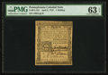 Colonial Notes:Pennsylvania, Pennsylvania April 3, 1772 1s PMG Choice Uncirculated 63 EPQ.. ...