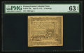 Colonial Notes:Pennsylvania, Pennsylvania April 3, 1772 2s PMG Choice Uncirculated 63 EPQ.. ...