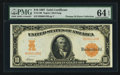 Large Size:Gold Certificates, Fr. 1169 $10 1907 Gold Certificate PMG Choice Uncirculated 64 EPQ.....