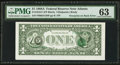 Error Notes:Third Printing on Reverse, Fr. 1916-F $1 1988A Federal Reserve Note. PMG Choice Uncirculated 63.. ...