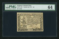Colonial Notes:Virginia, Virginia October 20, 1777 $6 PMG Choice Uncirculated 64.. ...