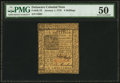 Colonial Notes:Delaware, Delaware January 1, 1776 6s PMG About Uncirculated 50.. ...