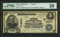 National Bank Notes:Missouri, Cabool, MO - $5 1902 Plain Back Fr. 605 The First NB Ch. # (M)8877....