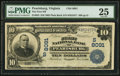 National Bank Notes:Virginia, Pearisburg, VA - $10 1902 Date Back Fr. 617 The First NB Ch. #(S)8091. ...