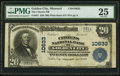 National Bank Notes:Missouri, Golden City, MO - $20 1902 Plain Back Fr. 657 The Citizens NB Ch. #10633. ...