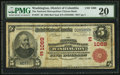 National Bank Notes:District of Columbia, Washington, DC - $5 1902 Red Seal Fr. 587 The National Metropolitan Citizens Bank Ch. # (E)1069. ...