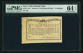 Colonial Notes:New York, New York March 5 , 1776 (Water Works) 8s PMG Choice Uncirculated 64 EPQ.. ...