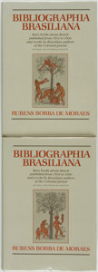 Books:Reference & Bibliography, [Brazil]. Rubens Borba de Moraes. Bibliographia Brasiliana. RareBooks about Brazil from 1504 to 1900 and Works by Brazi... (Total:2 Items)