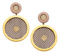 Estate Jewelry:Earrings, Diamond, Gold, Sterling Silver Earrings, Sabbadini. ...