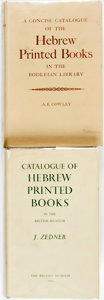 Books:Reference & Bibliography, [Judaica]. Pair of Hebrew Bibliographies. Various publishers anddates.... (Total: 2 Items)