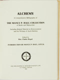 Books:Reference & Bibliography, [Alchemy]. Ron. Charles Hogart, editor. Alchemy: A ComprehensiveBibliography. The Manly P. Hall Collection of Books and...