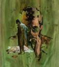 Pulp, Pulp-like, Digests, and Paperback Art, American Artist (20th Century). Death in Green, probablepaperback cover. Watercolor and gouache on board. 10.25 x 9in....