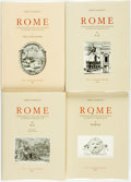 Books:Reference & Bibliography, [Early Printing]. Sergio Rossetti. Rome: A Bibliography from theInvention of Printing Through 1899, Vols. I - IV.... (Total: 4Items)