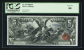 Large Size:Silver Certificates, Fr. 270 $5 1896 Silver Certificate PCGS Gem New 66.. ...