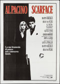 "Movie Posters:Crime, Scarface (UIP, 1984). Italian 4 - Foglio (55"" X 77""). Crime.. ..."