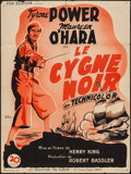 "Movie Posters:Adventure, The Black Swan (Fox-Europa, 1947). First Post-War Release FrenchAffiche (23.5"" X 31.25""). Adventure.. ..."