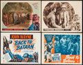 "Movie Posters:War, Back to Bataan & Other Lot (RKO, R-1950). Title Lobby Card& Lobby Cards (3) (11"" X 14""). War.. ... (Total: 4 Items)"