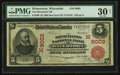 National Bank Notes:Wisconsin, Watertown, WI - $5 1902 Red Seal Fr. 589 The Merchants NB Ch. # (M)9003. ...
