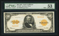Large Size:Gold Certificates, Fr. 1200a $50 1922 Mule Gold Certificate PMG About Uncirculated53.. ...