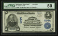 National Bank Notes:Maryland, Baltimore, MD - $5 1902 Plain Back Fr. 608 The Old Town NB Ch. #5984. ...