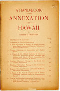Books:Americana & American History, Lorrin A. Thurston. A Hand-Book on the Annexation of Hawaii.[St. Joseph, Mich.: A. B. Morse Company, Printers], [n....