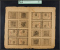 Colonial Notes:Pennsylvania, Pennsylvania April 25, 1776 1s (4) -8d (4) -2s (4) -2s/6d (4) Double Sheet of Sixteen PCGS Apparent About New 53.. ...
